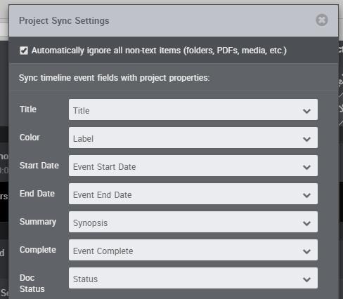 Sync Status Between Scrivener & Aeon Timeline
